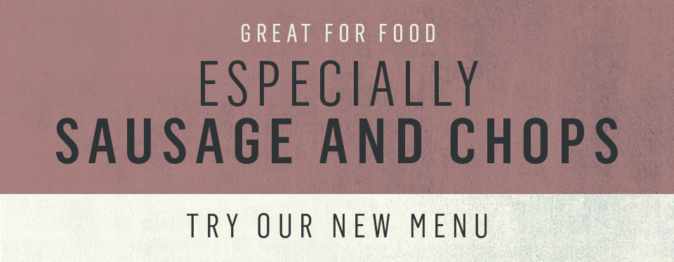 Try our new speciality menu