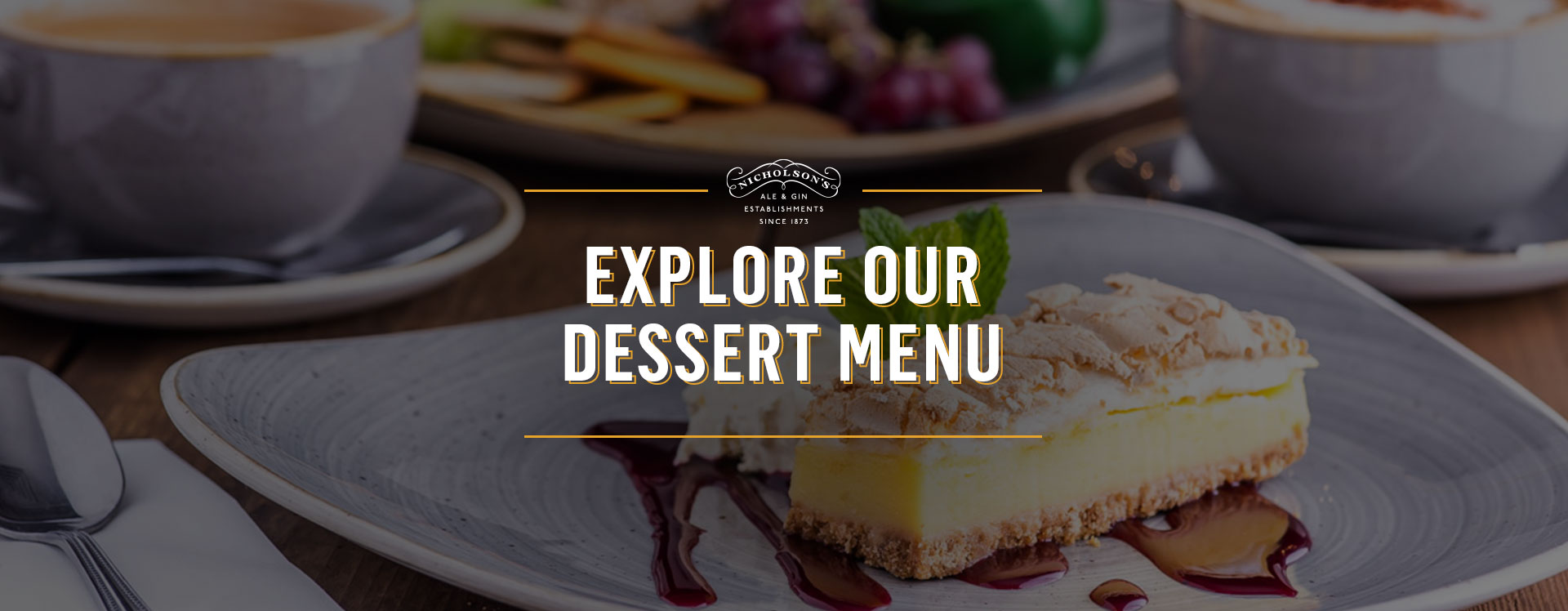 Dessert menu at The Observatory - Book a table