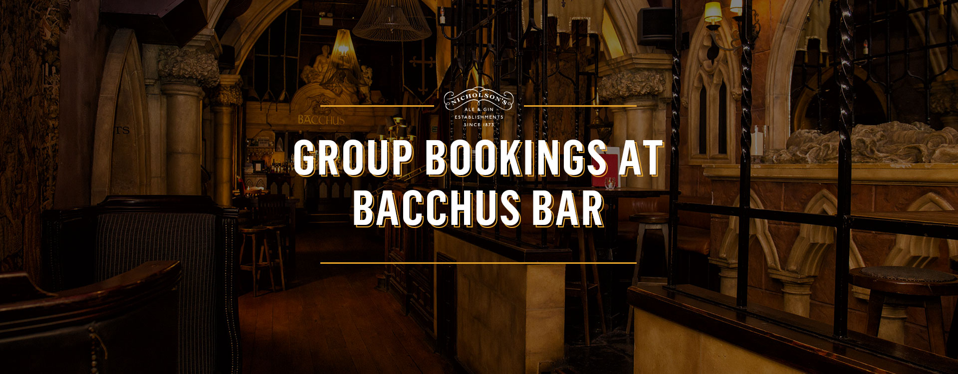 Group Bookings at Bacchus Bar