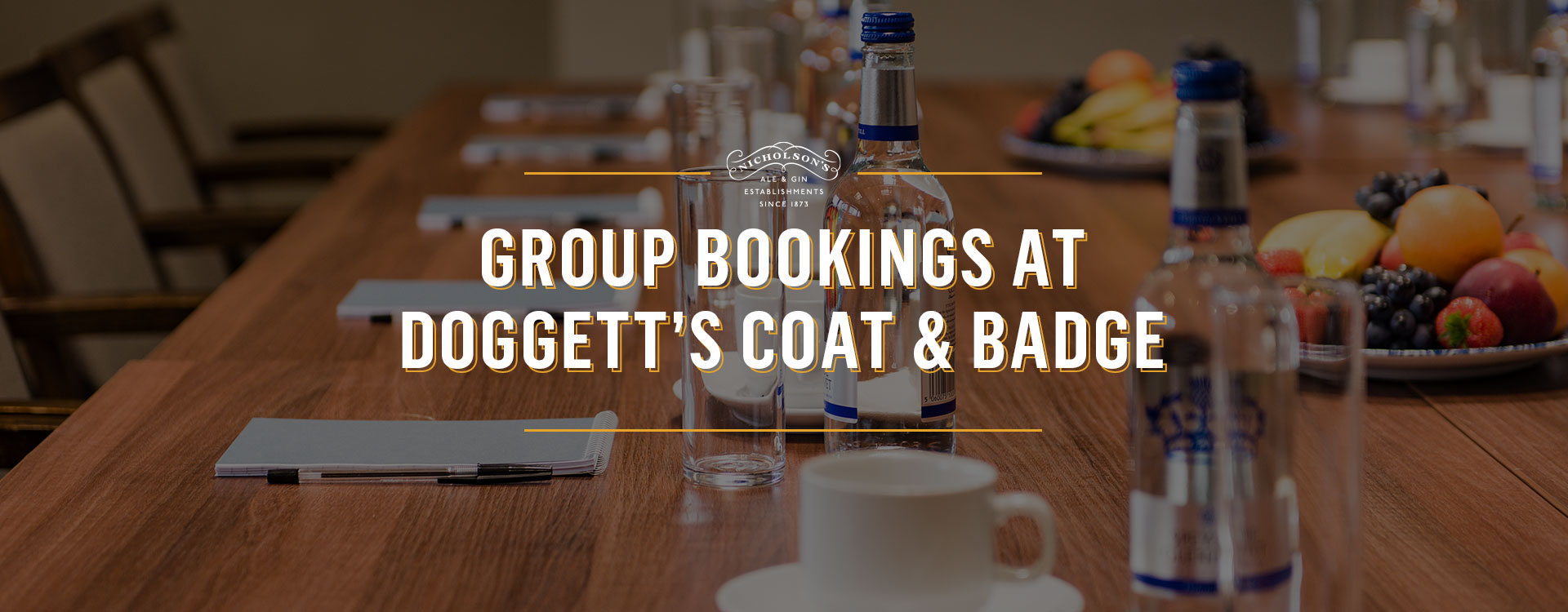 Group Bookings at Doggett's Coat and Badge