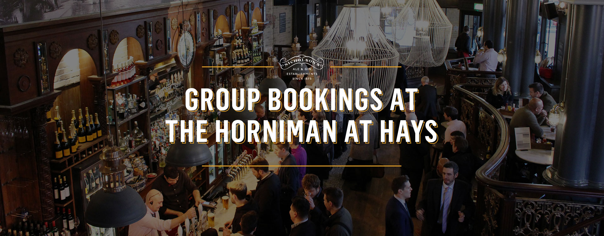 Group Bookings at The Horniman at Hays