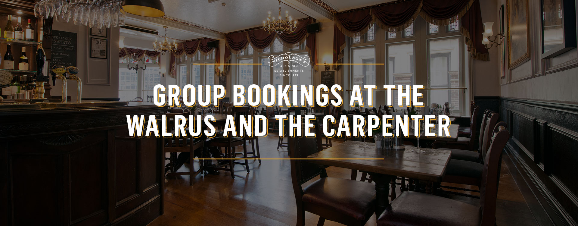 Group Bookings at The Walrus and The Carpenter