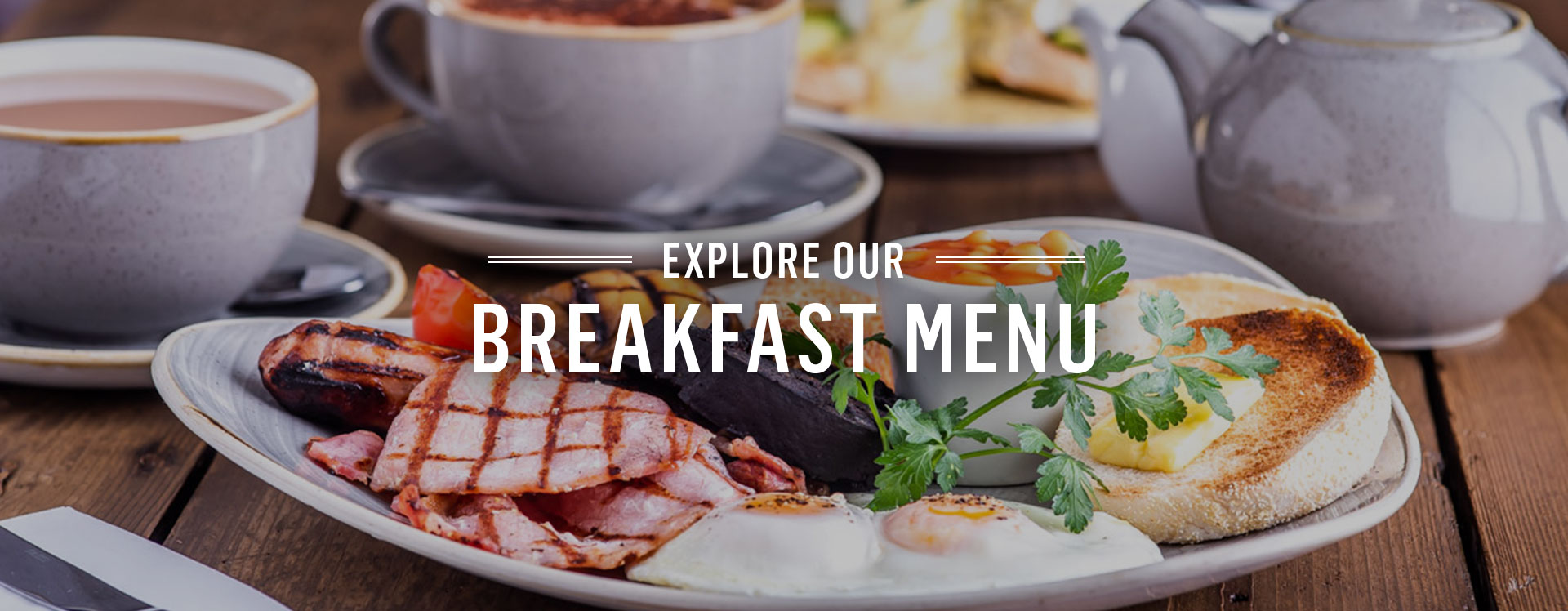 Breakfast at The Woodins Shades - Book a table