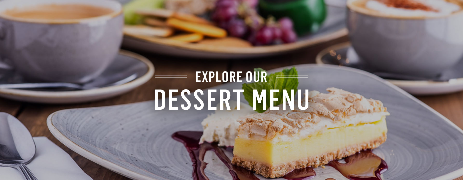 Dessert menu at The Feathers - Book a table