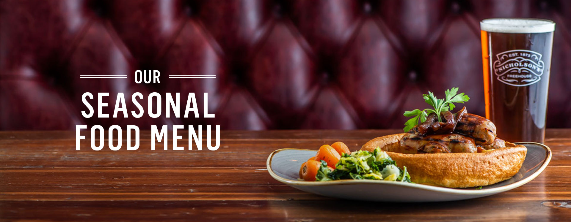New Menu at The St George's Tavern