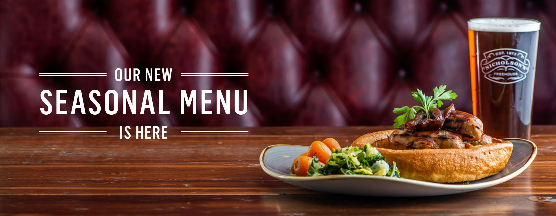 New Menu at The White Swan