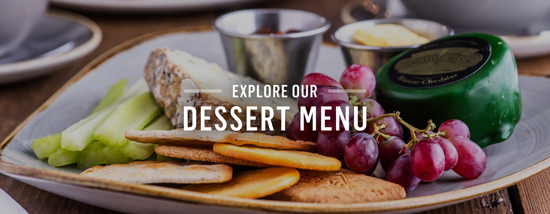 Dessert menu at The Crown - Book a table