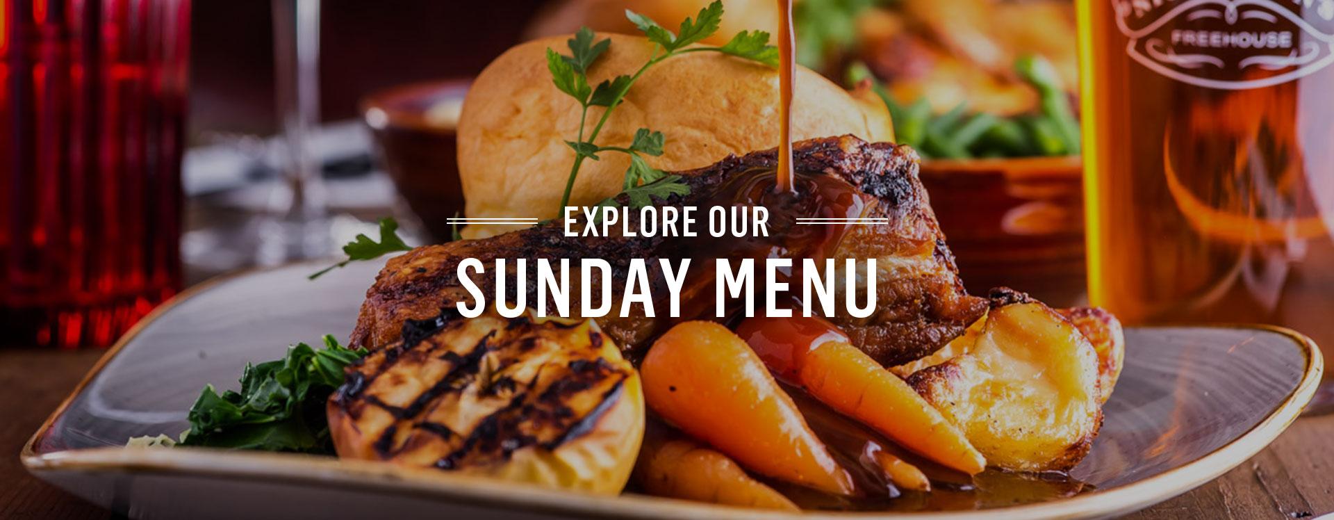 Sunday Roast Menu   Nicholson's Pubs
