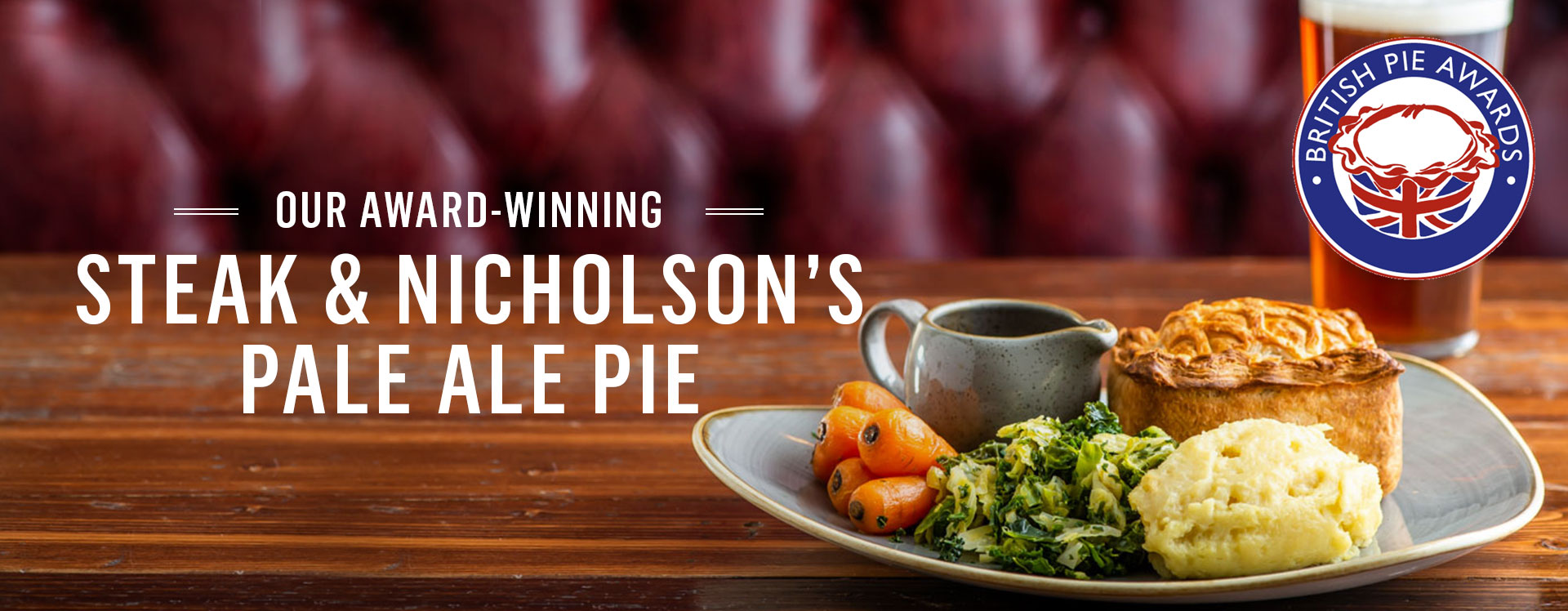 Award Winning Pies at The Crown Liquor Saloon