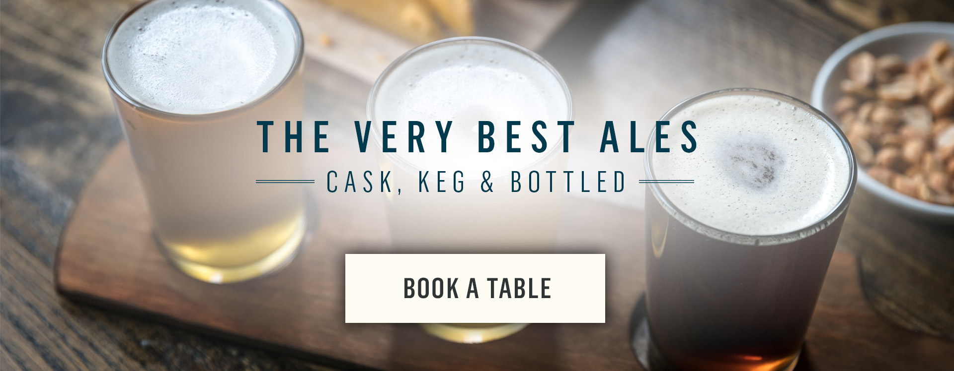 The very best ales - Book a table