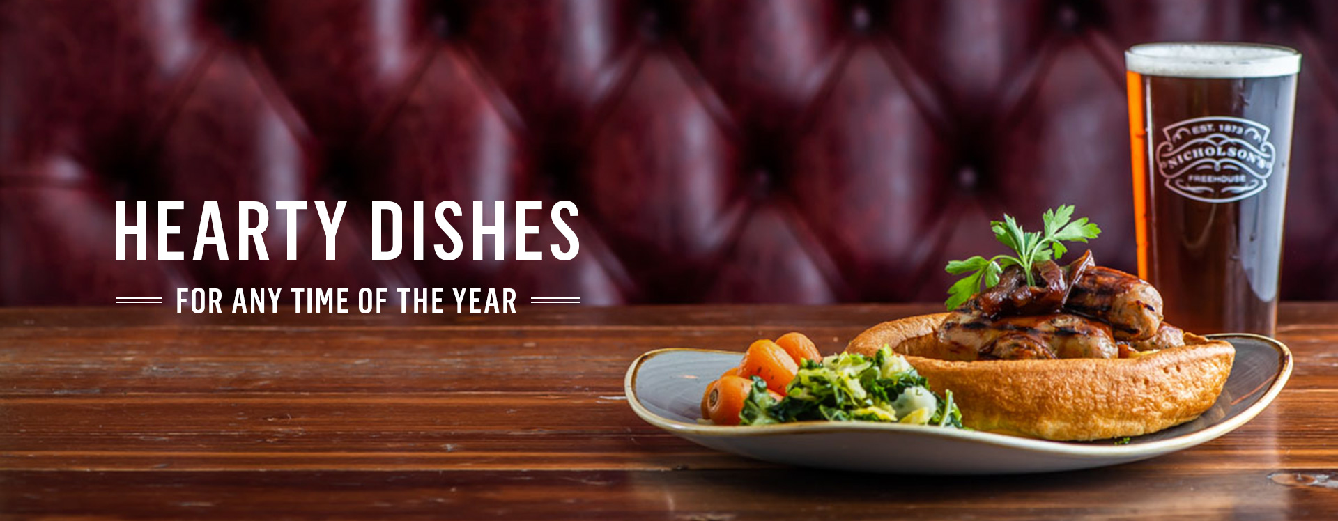 Our favourites & new specialities, try our new menus