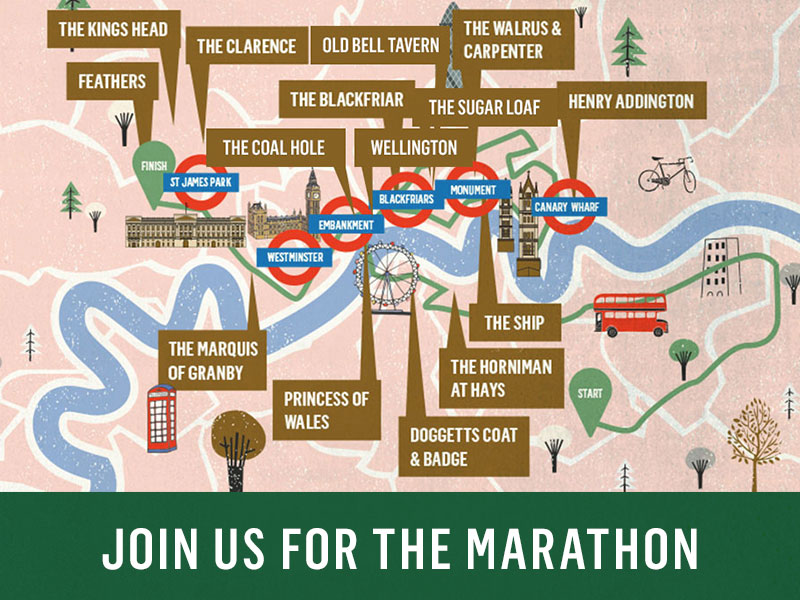 London Marathon at The Elephant and Castle
