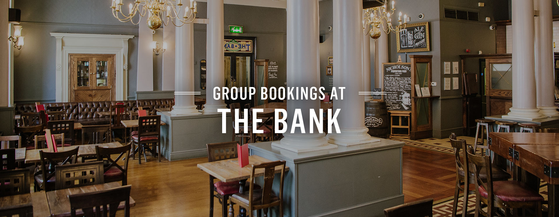Group Bookings at The Bank