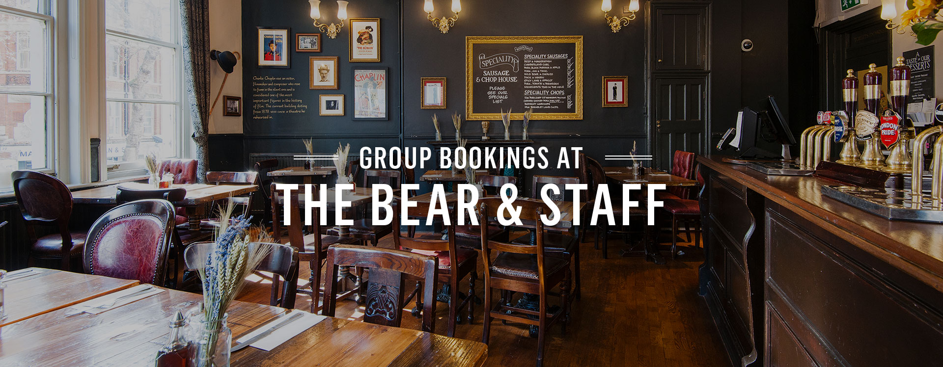 Group Bookings at The Bear and Staff