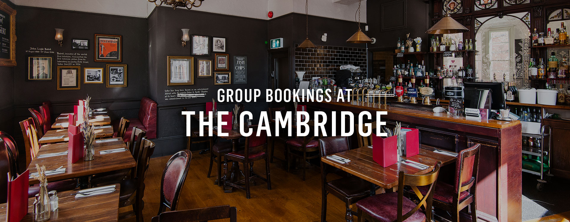 Group Bookings at The Cambridge
