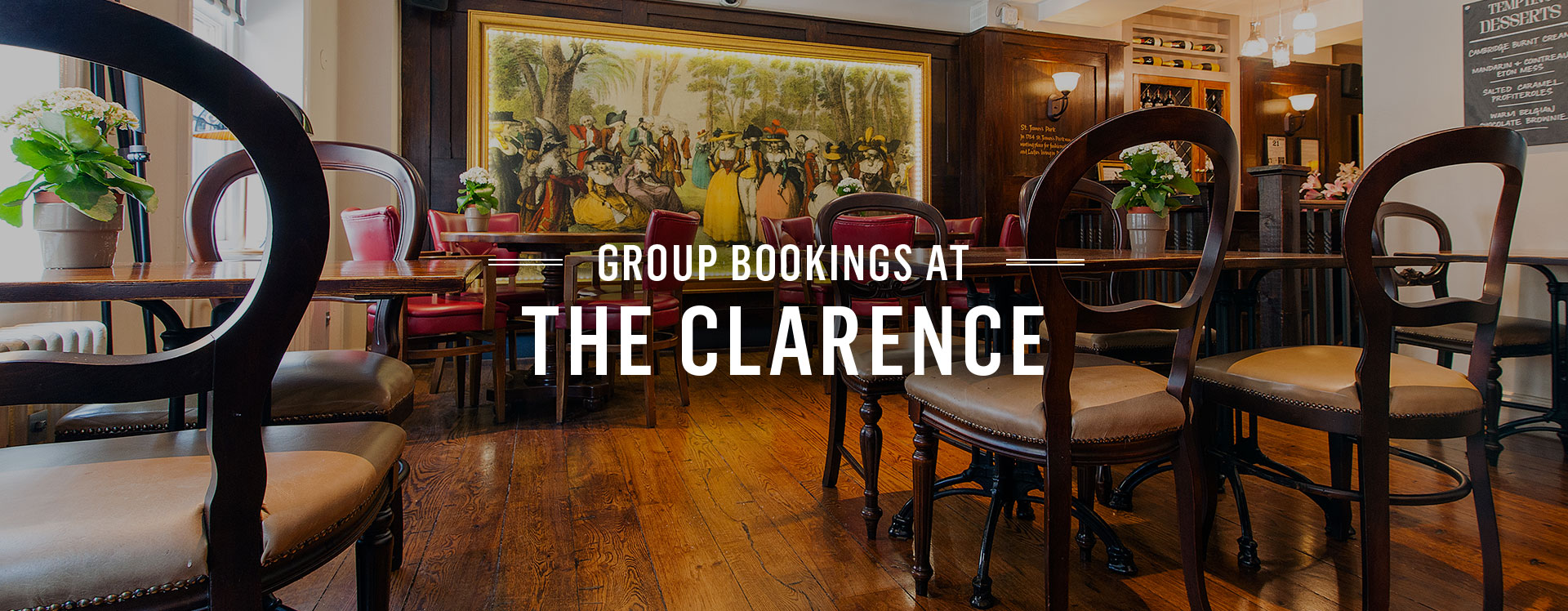 Group Bookings at The Clarence