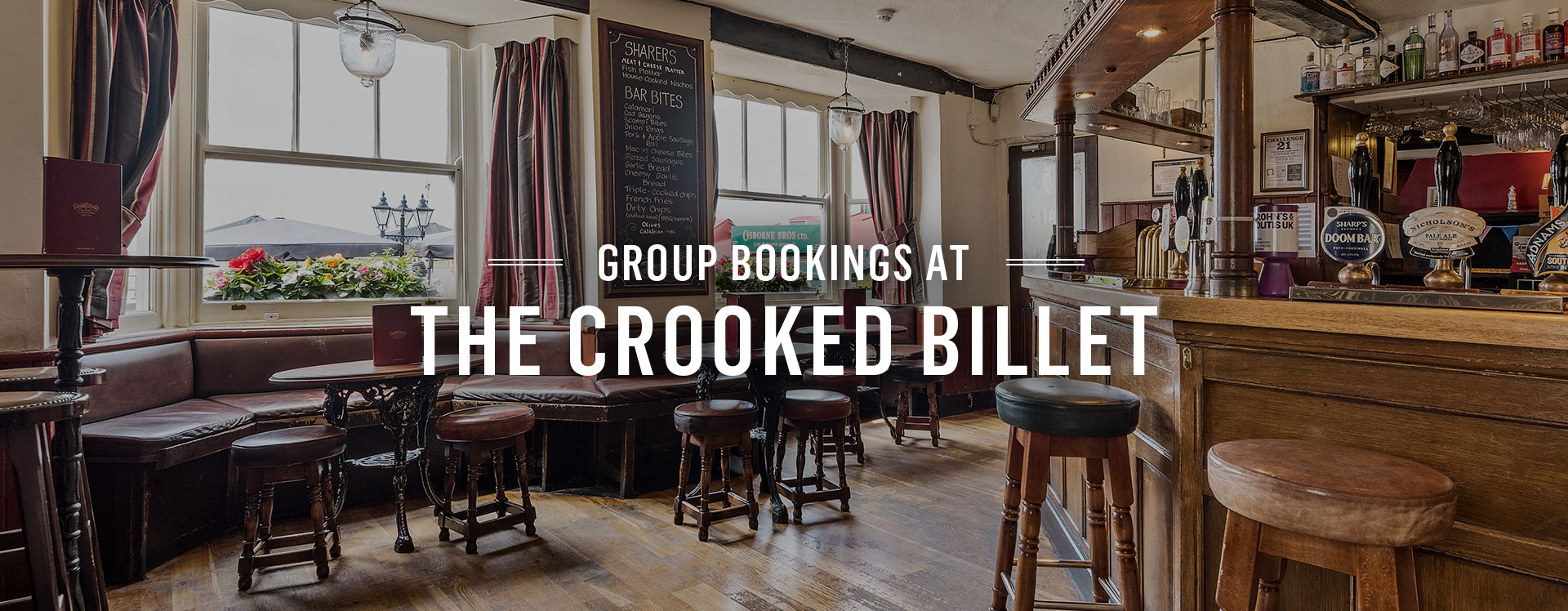Group Bookings at The Crooked Billet