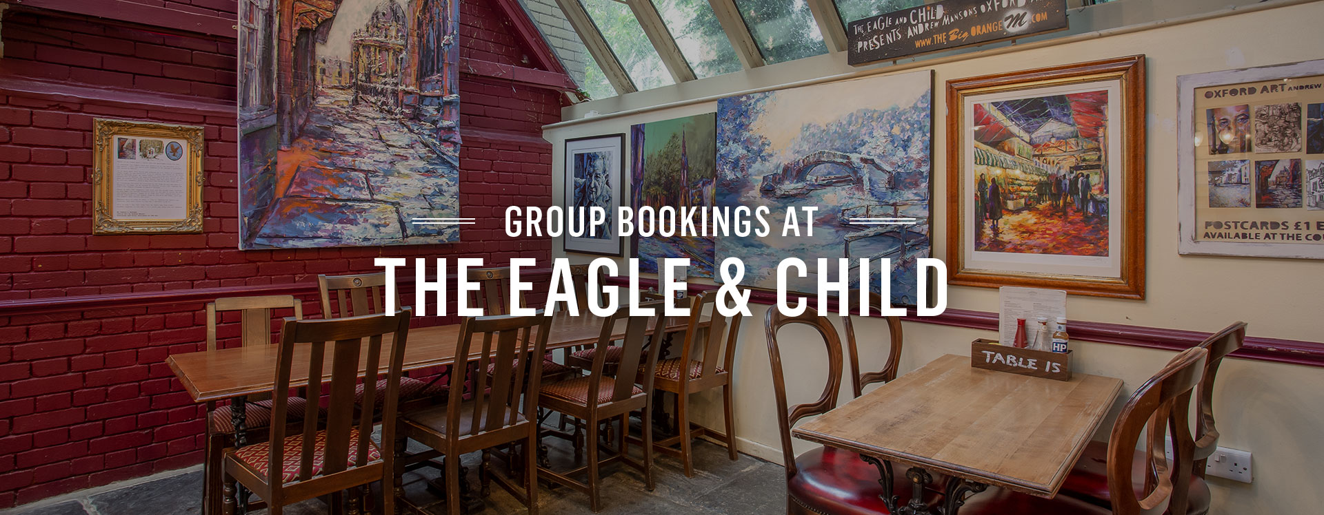 Group Bookings at The Eagle and Child