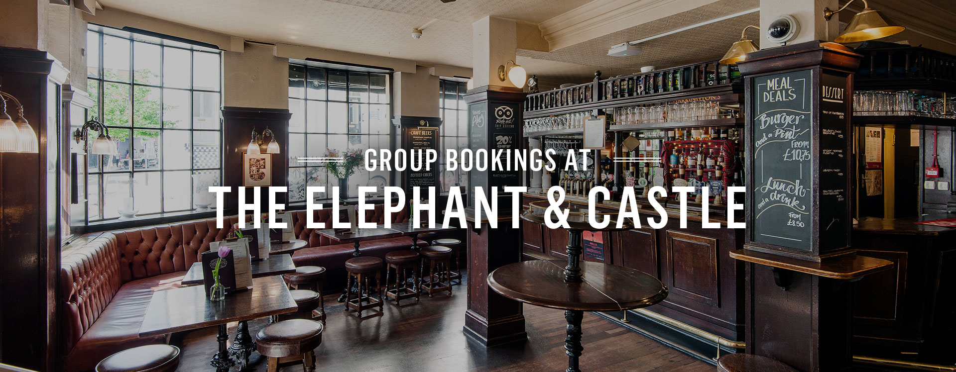 Group Bookings at The Elephant and Castle