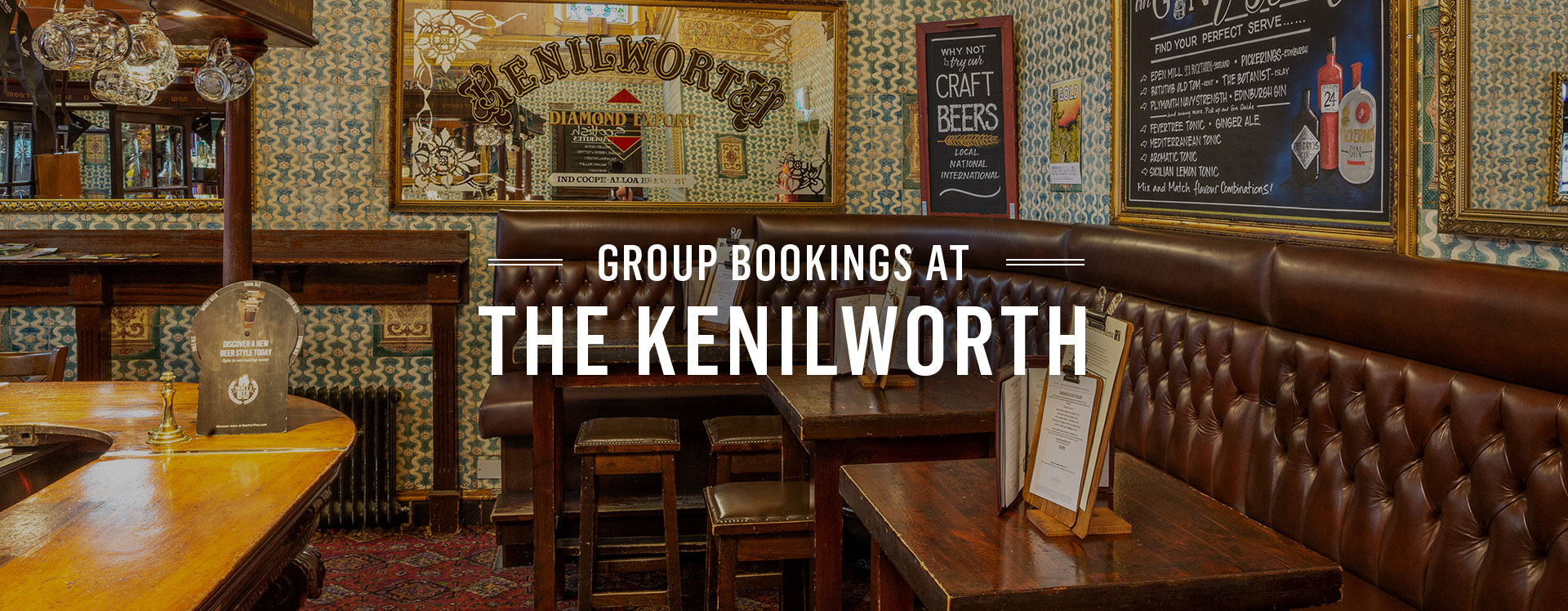 Group Bookings at The Kenilworth