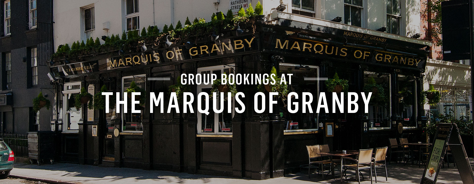 Group Bookings at The Marquis of Granby