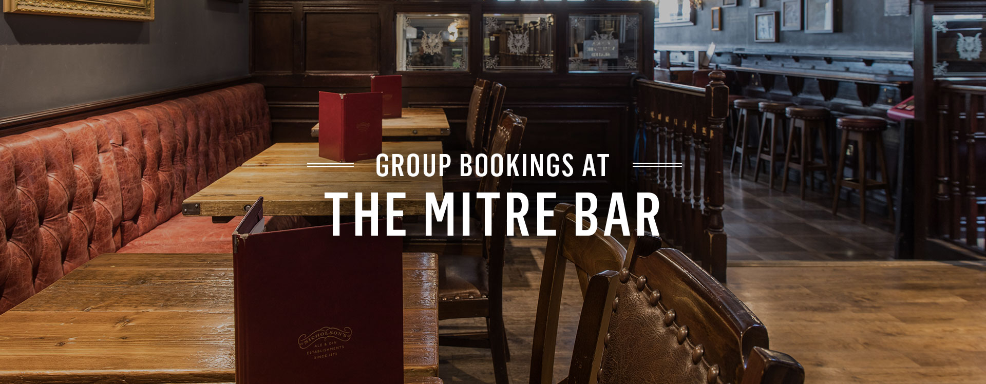 Group Bookings at The Mitre Bar