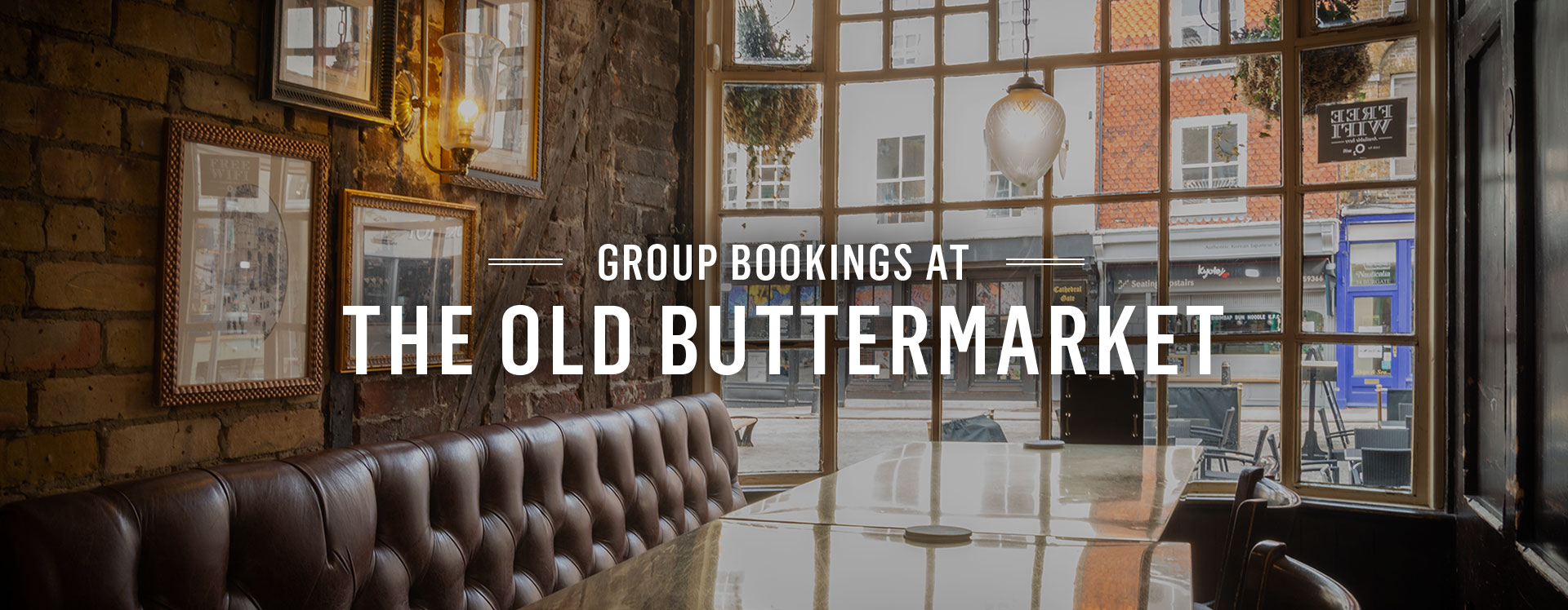 Group Bookings at The Old Buttermarket