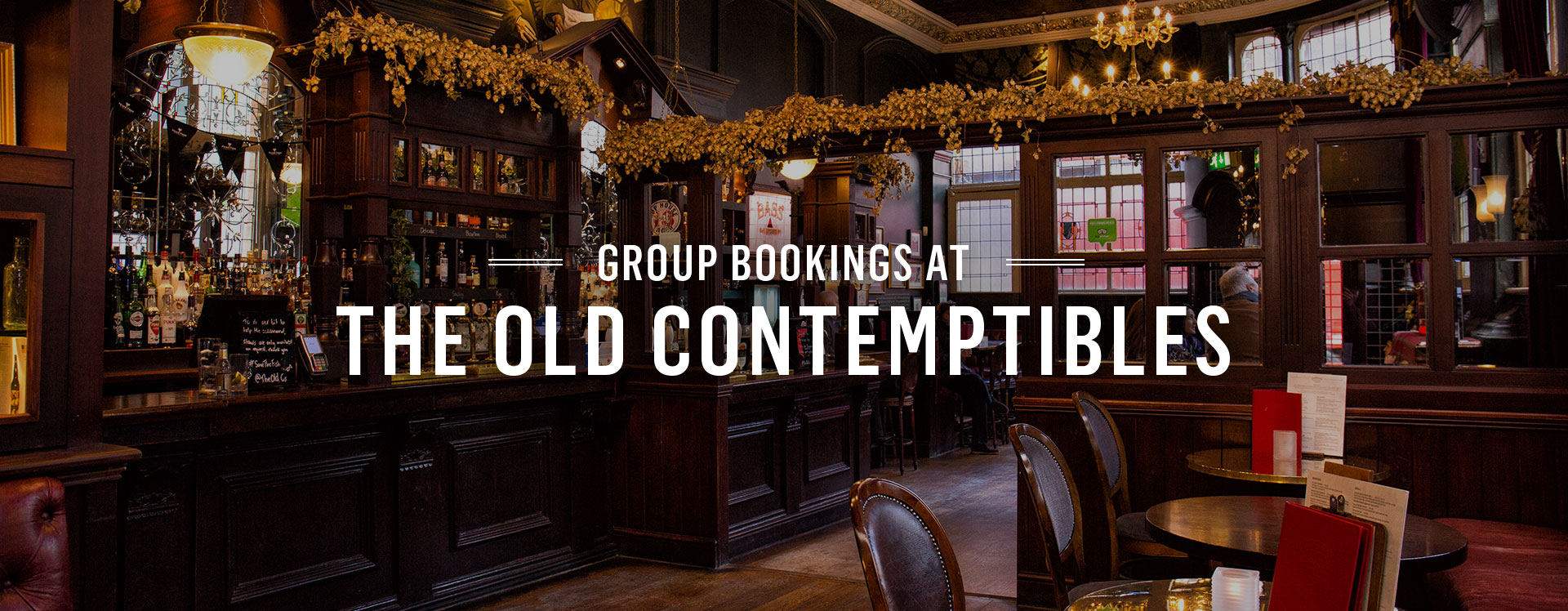 Group Bookings at The Old Contemptibles
