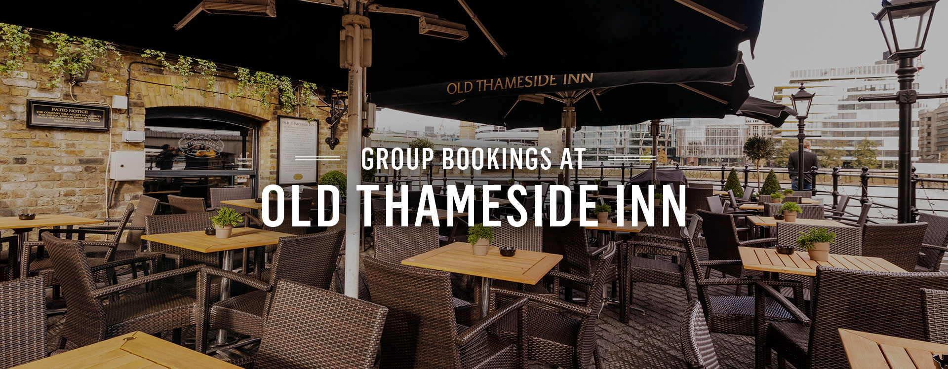 Group Bookings at The Old Thameside Inn