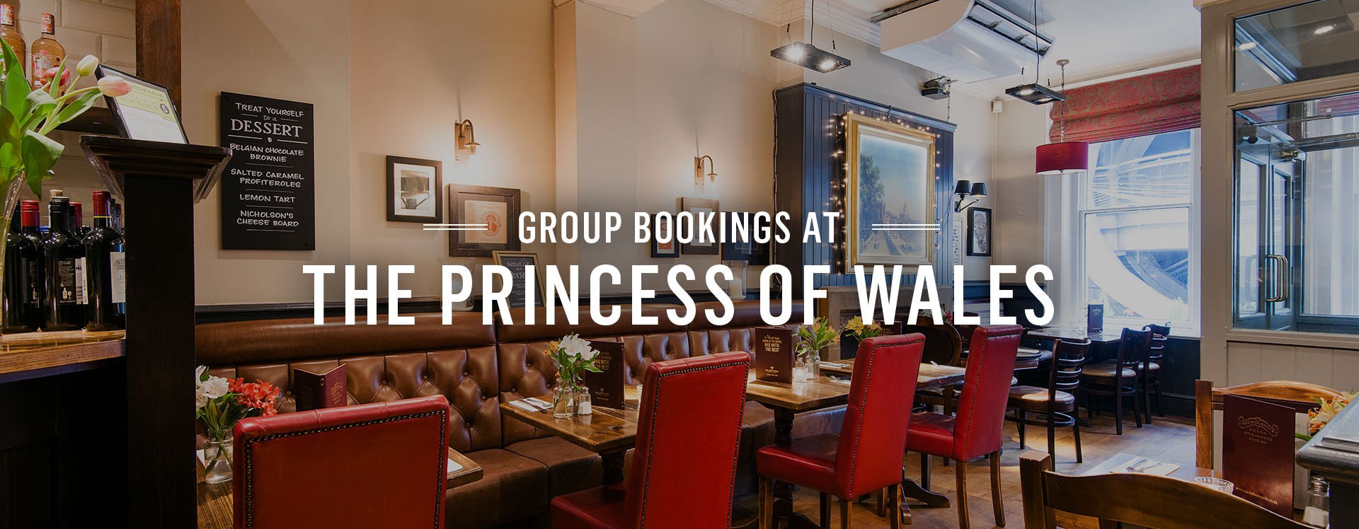 Group Bookings at The Princess Of Wales