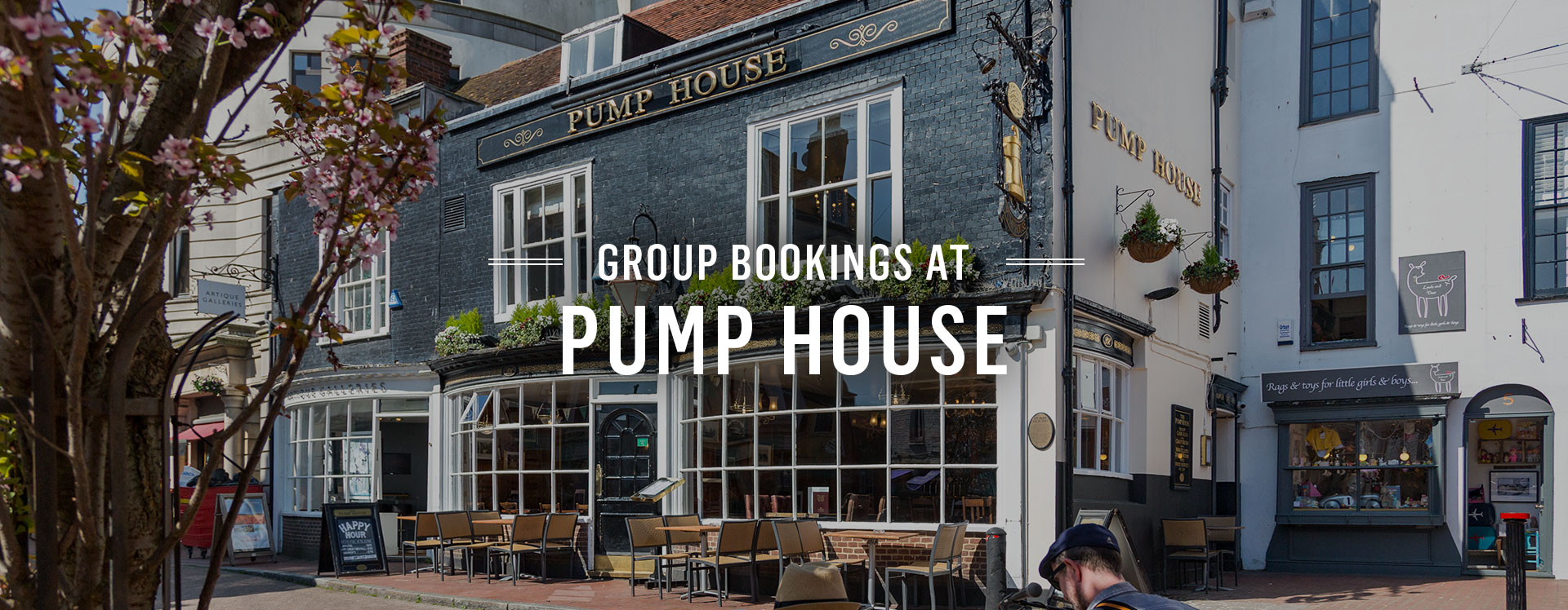 Group Bookings at The Pump House