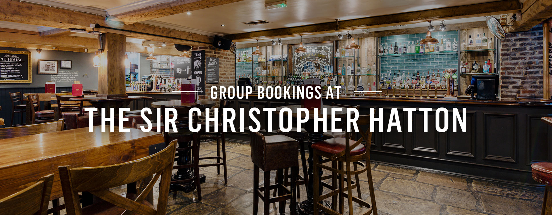 Group Bookings at The Sir Christopher Hatton