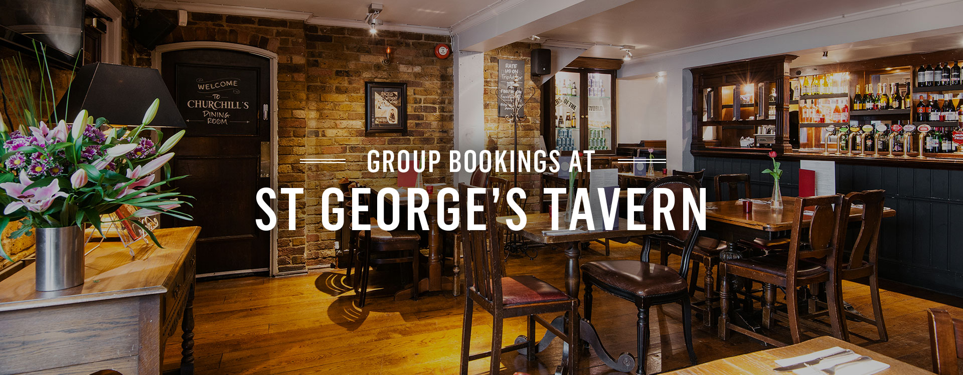 Group Bookings at The St George's Tavern