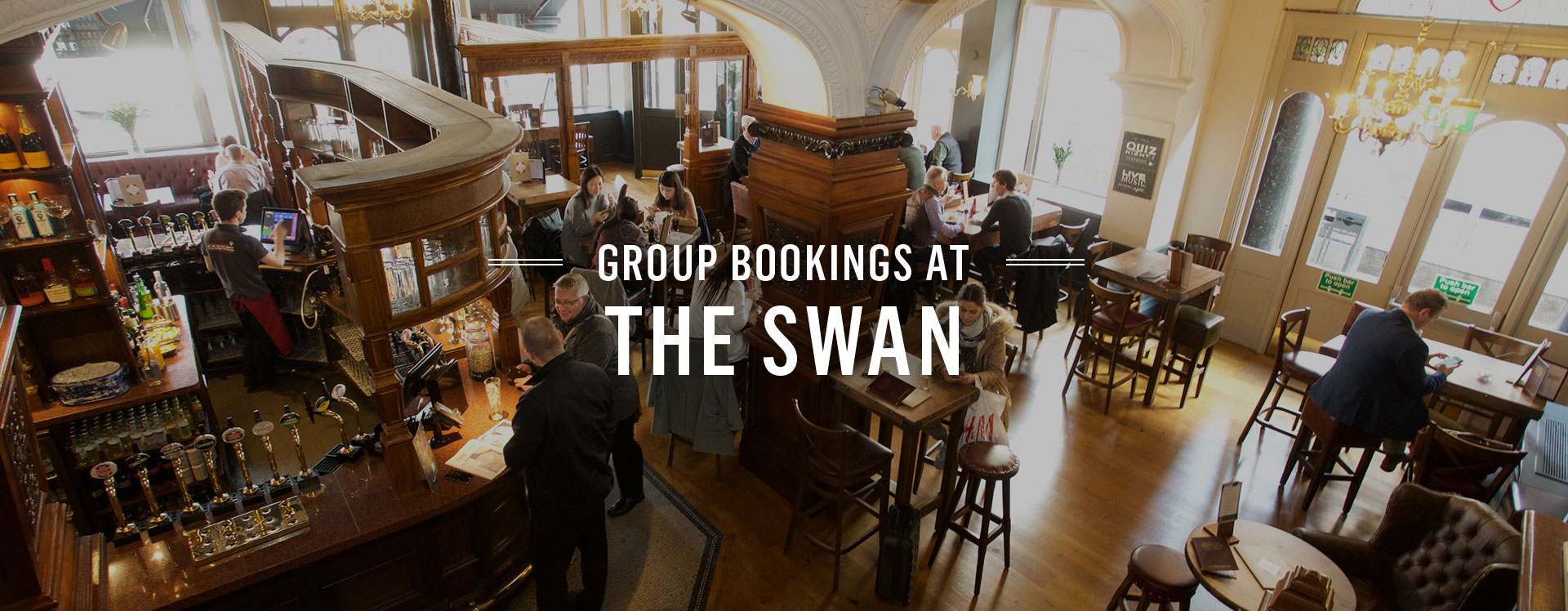 Group Bookings at The Swan