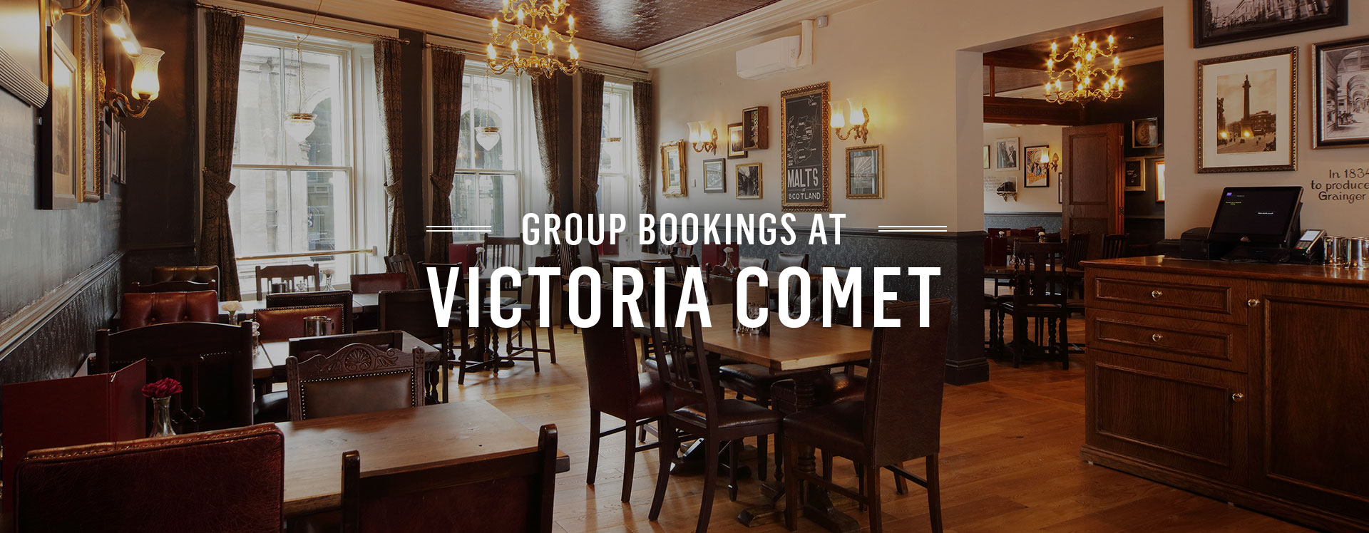 Group Bookings at The Victoria Comet