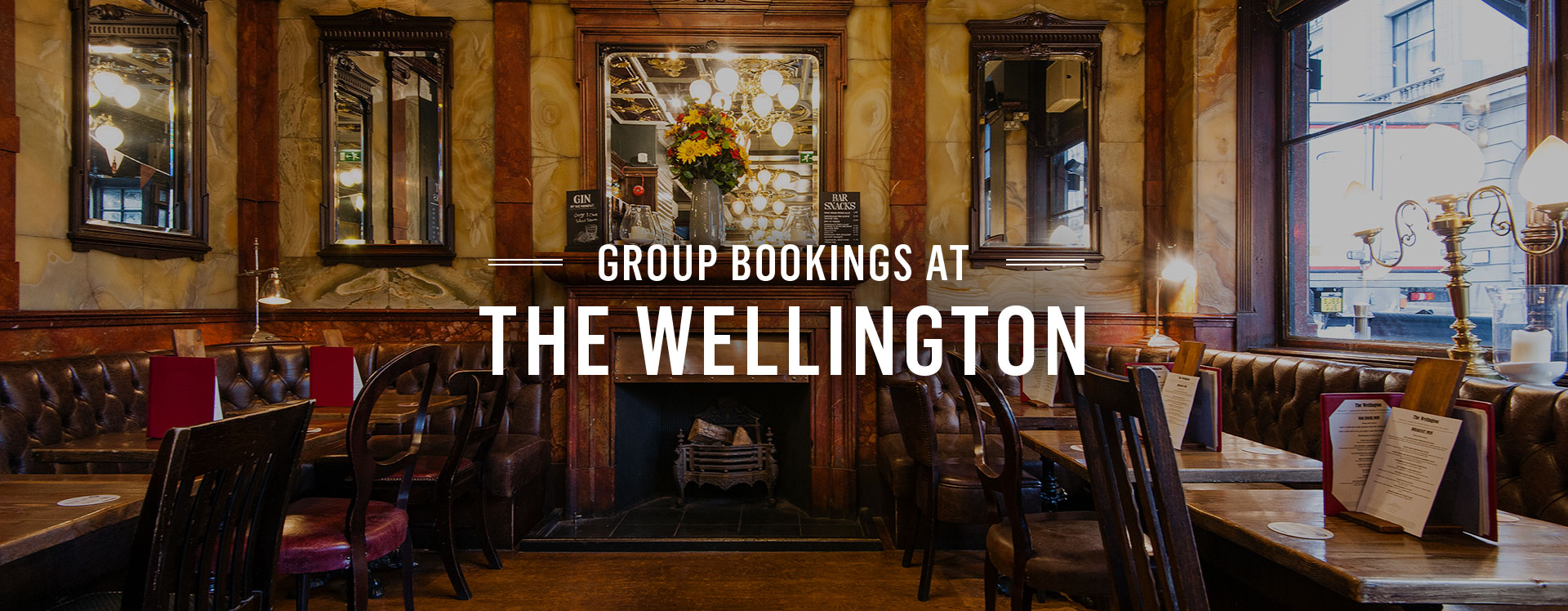 Group Bookings at The Wellington