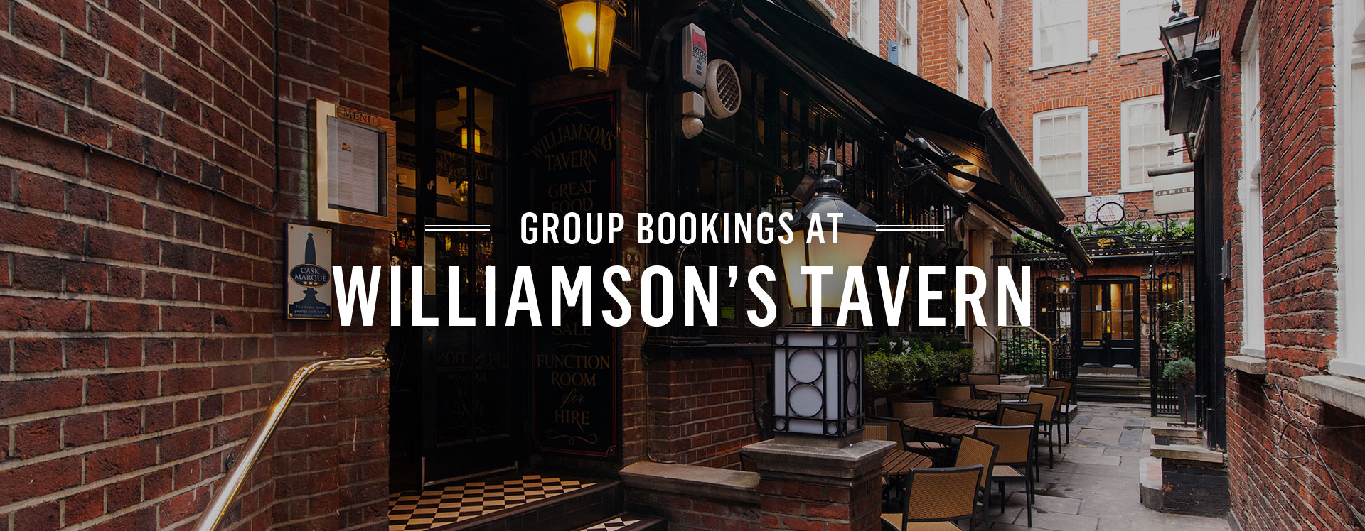 Group Bookings at Williamson's Tavern