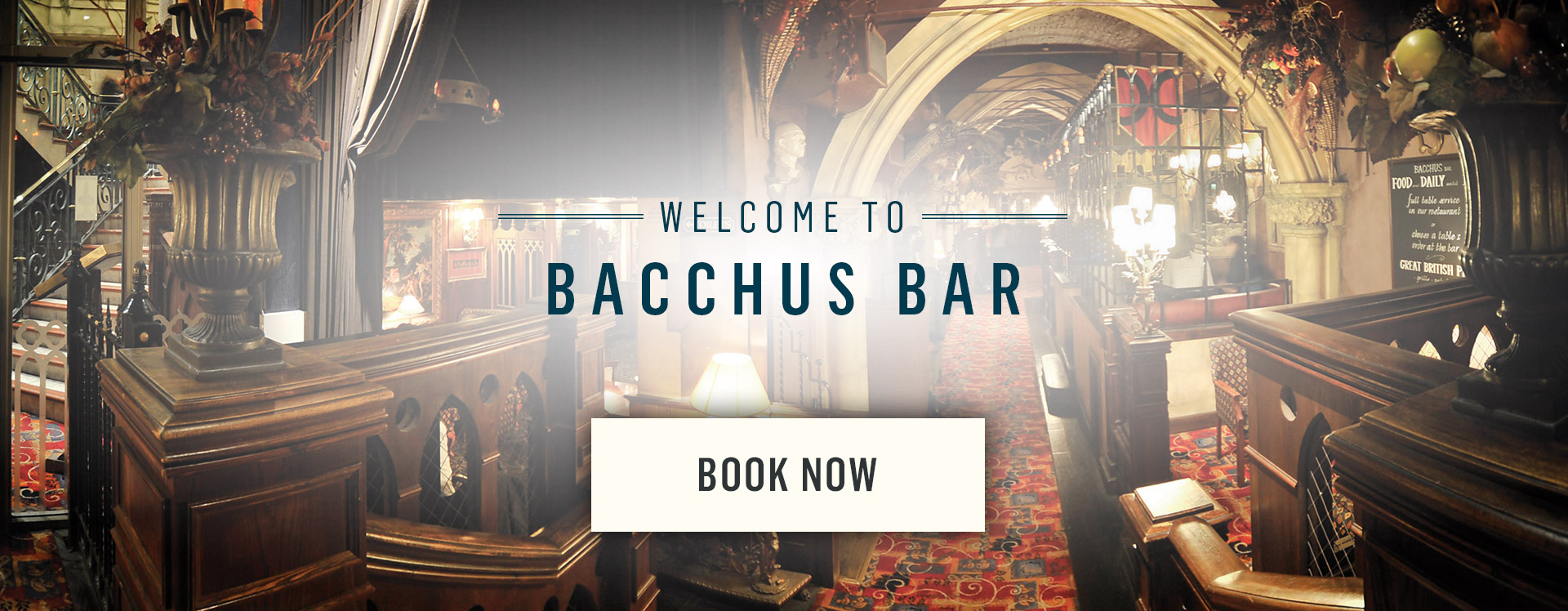 Welcome to Bacchus Bar - Book Now