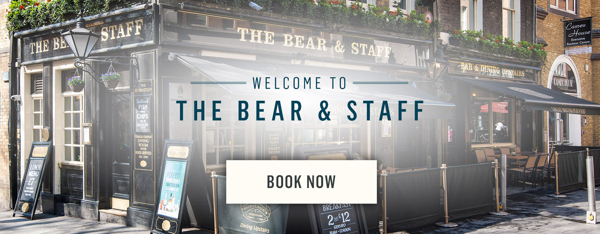 Welcome to The Bear and Staff - Book Now