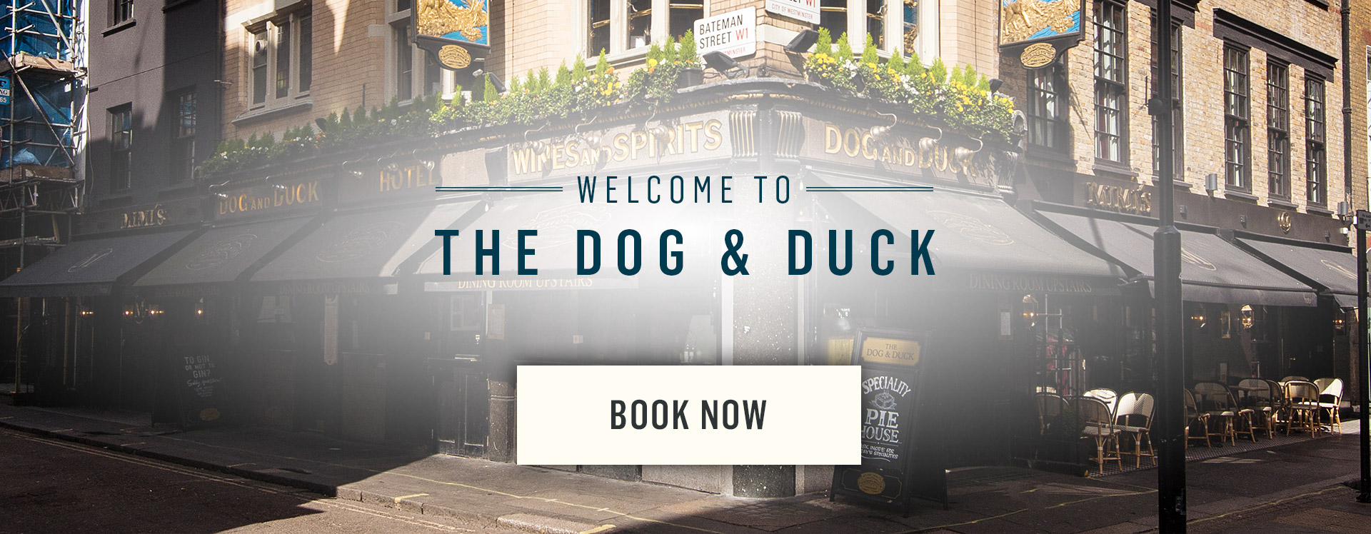 Welcome to The Dog and Duck - Book Now