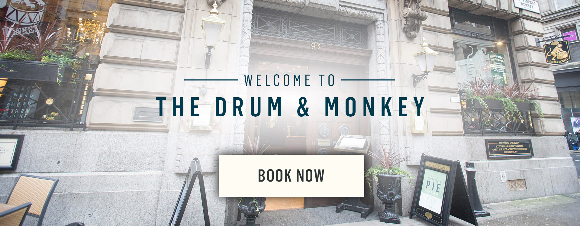 Welcome to The Drum and Monkey - Book Now