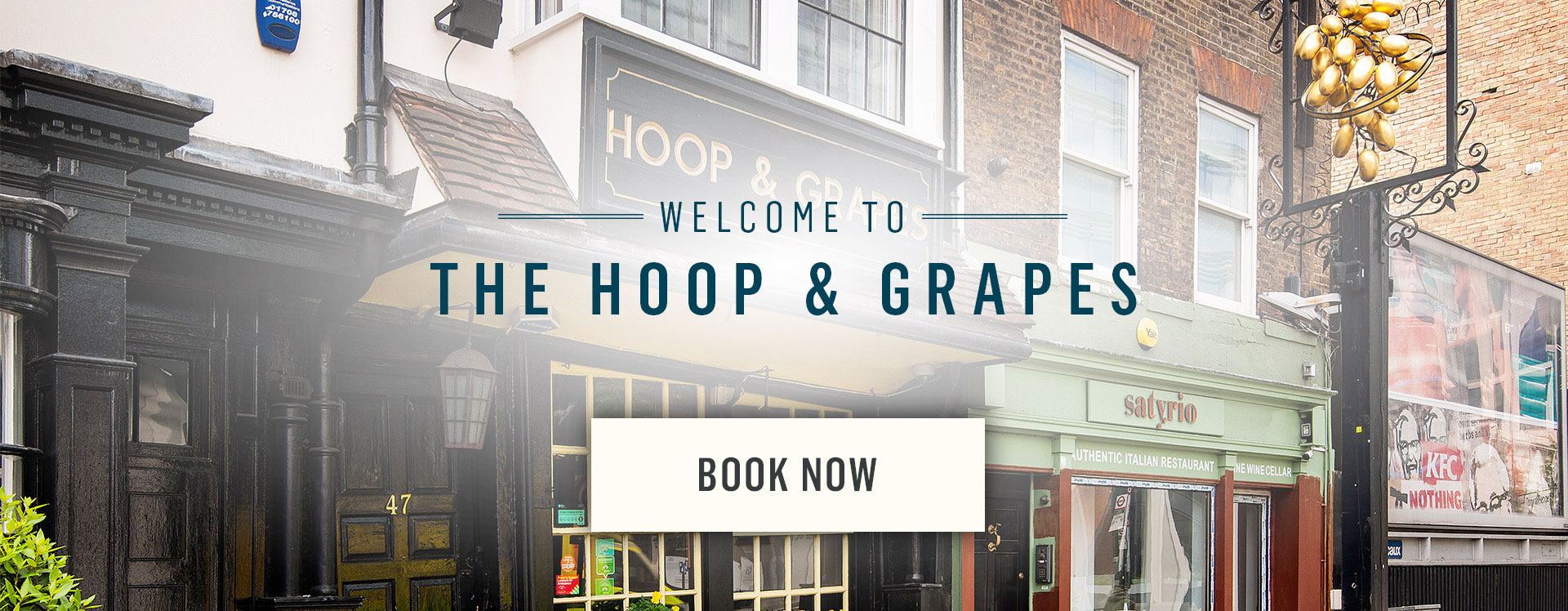 Welcome to The Hoop and Grapes - Book Now