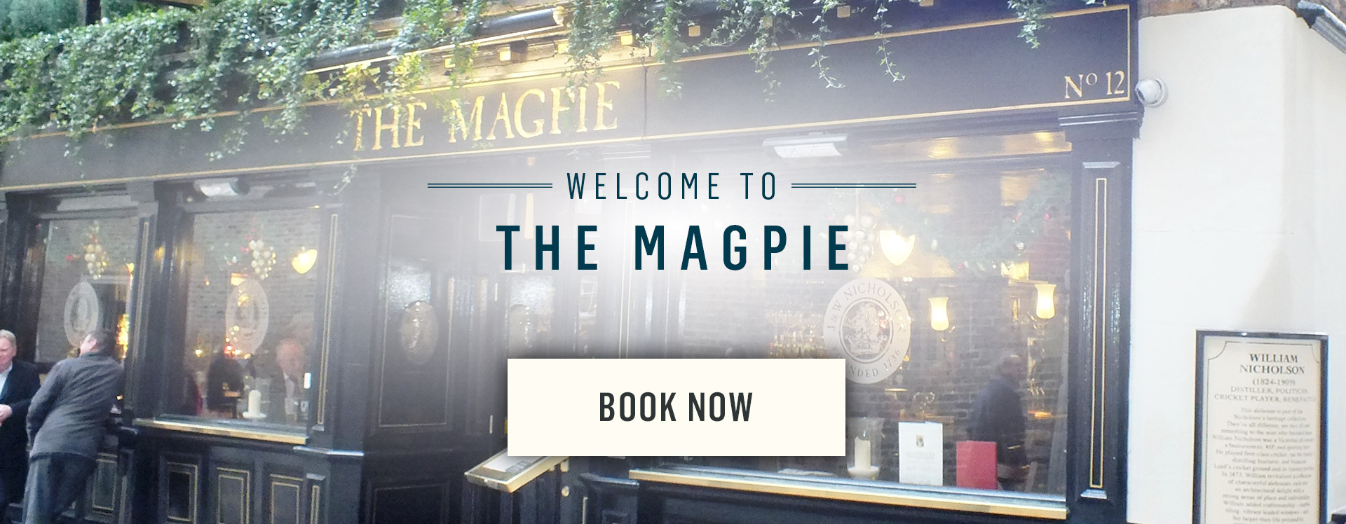 Welcome to The Magpie - Book Now