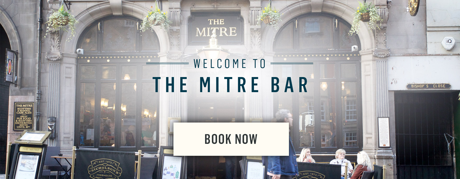 Welcome to The Mitre Bar - Book Now