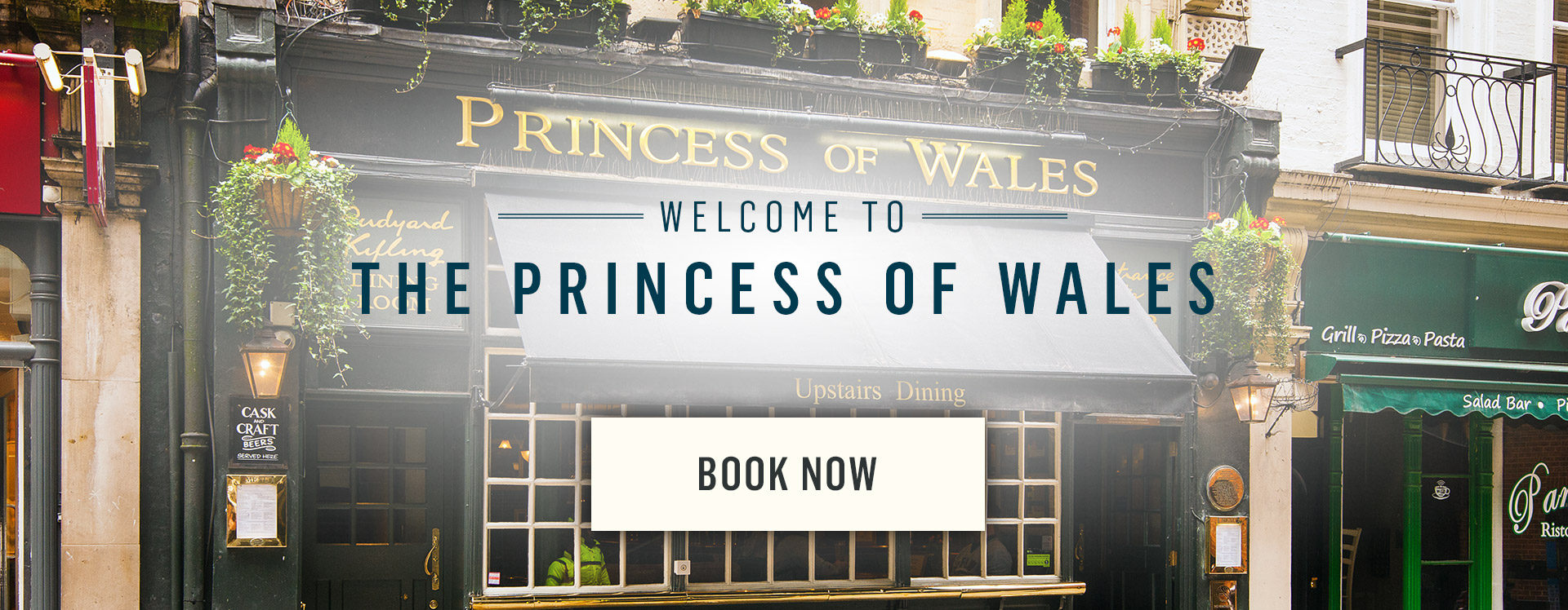 Welcome to The Princess Of Wales - Book Now