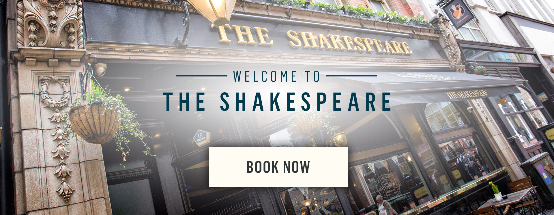 Welcome to The Shakespeare - Book Now