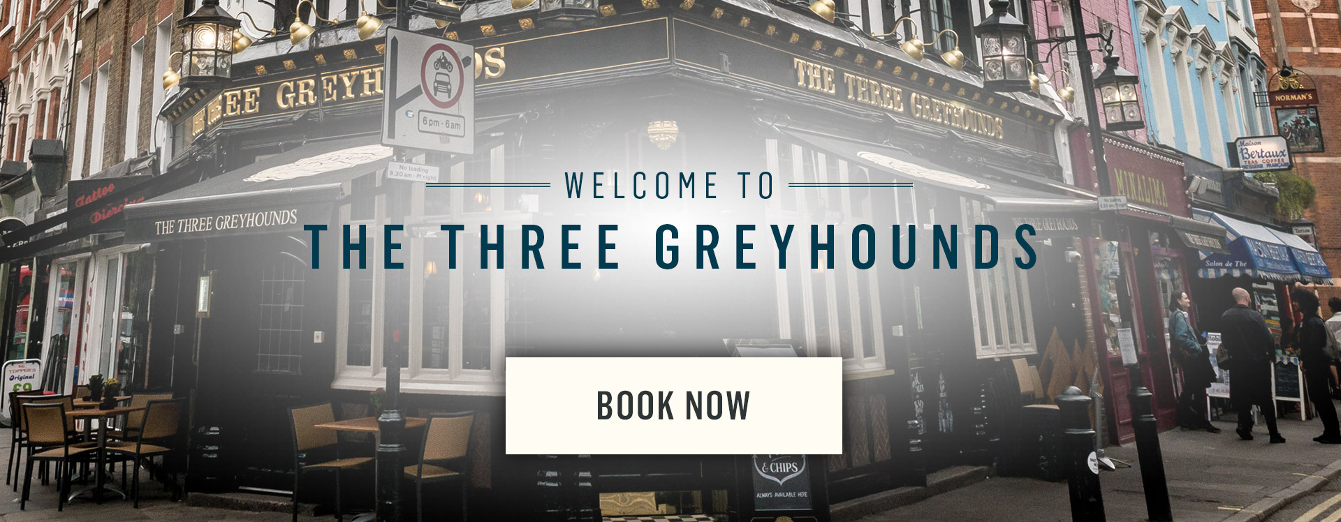 Welcome to The Three Greyhounds - Book Now