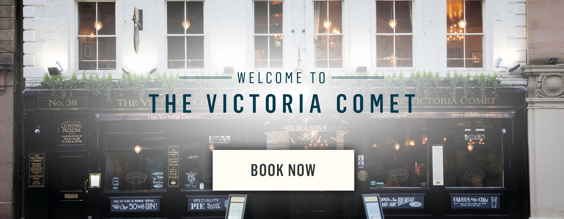 Welcome to The Victoria Comet - Book Now